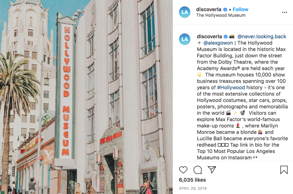 instagram east side hollywood musuem max factor building history