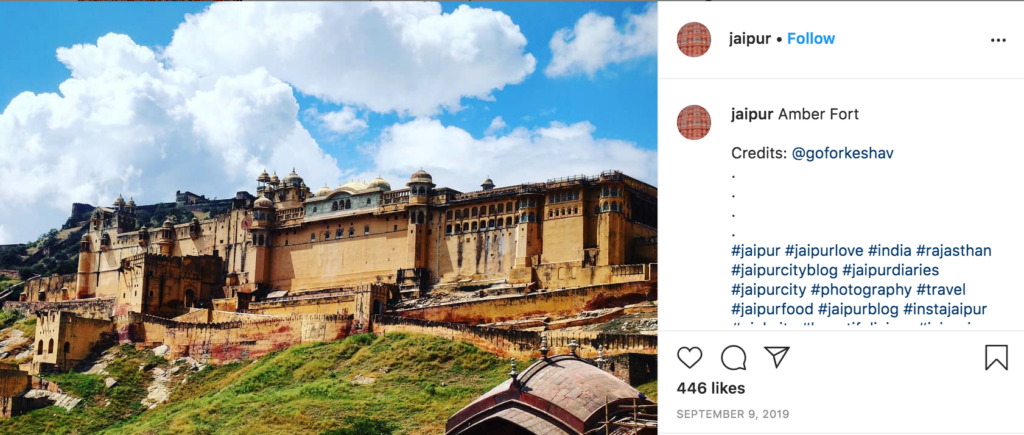 instagram jaipur Rajasthan India palace