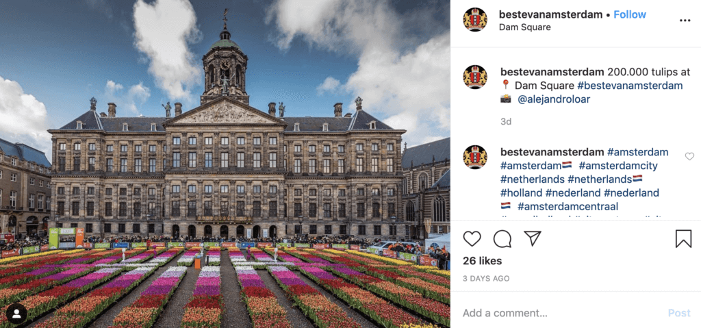 instagram beautiful amsterdam dam square netherlands attraction places to go