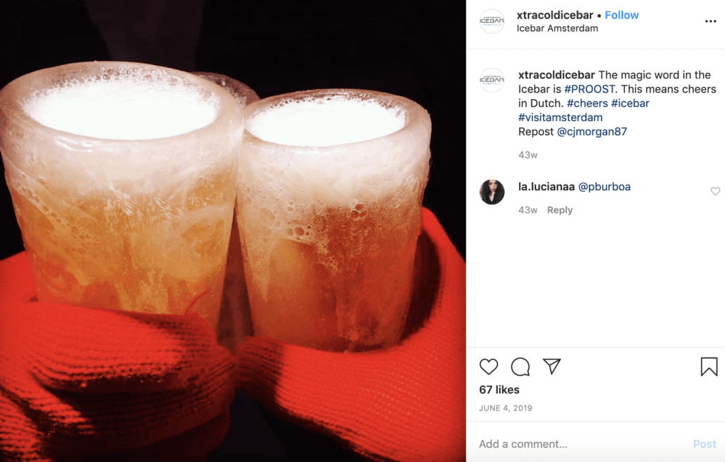 instagram beautiful amsterdam xtra cold icebar ice bar netherlands fun drink spots tour guide