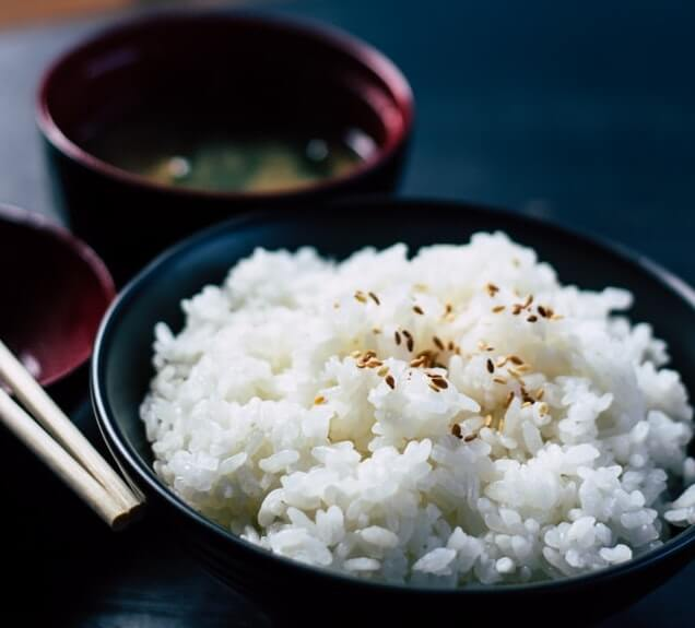 japanese white rice sticky easy japanese meal chopsticks cuisine culture cultural delicious