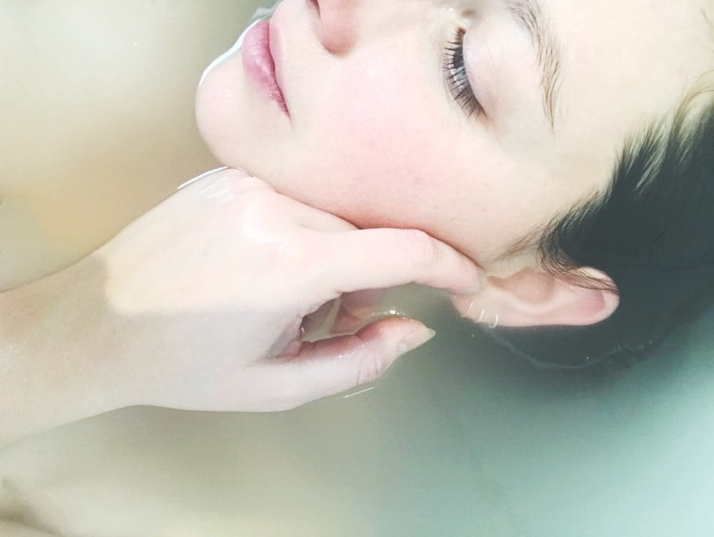 skincare tools around the world japanese skin routine beauty woman in bath