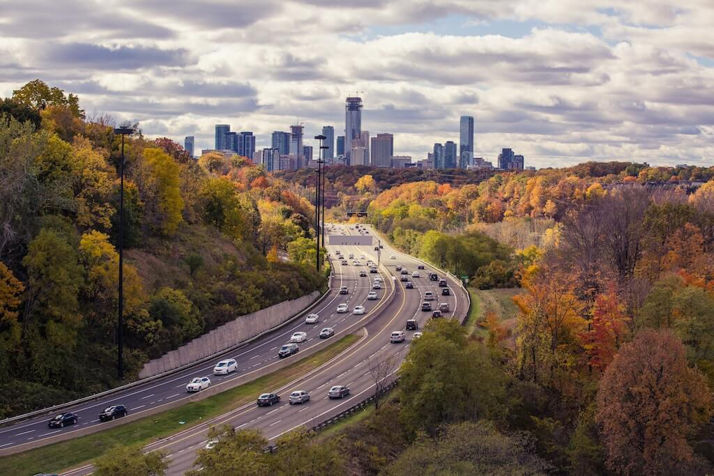 travel destinations for canadians toronto canada city highway freeway cityscape fall autum