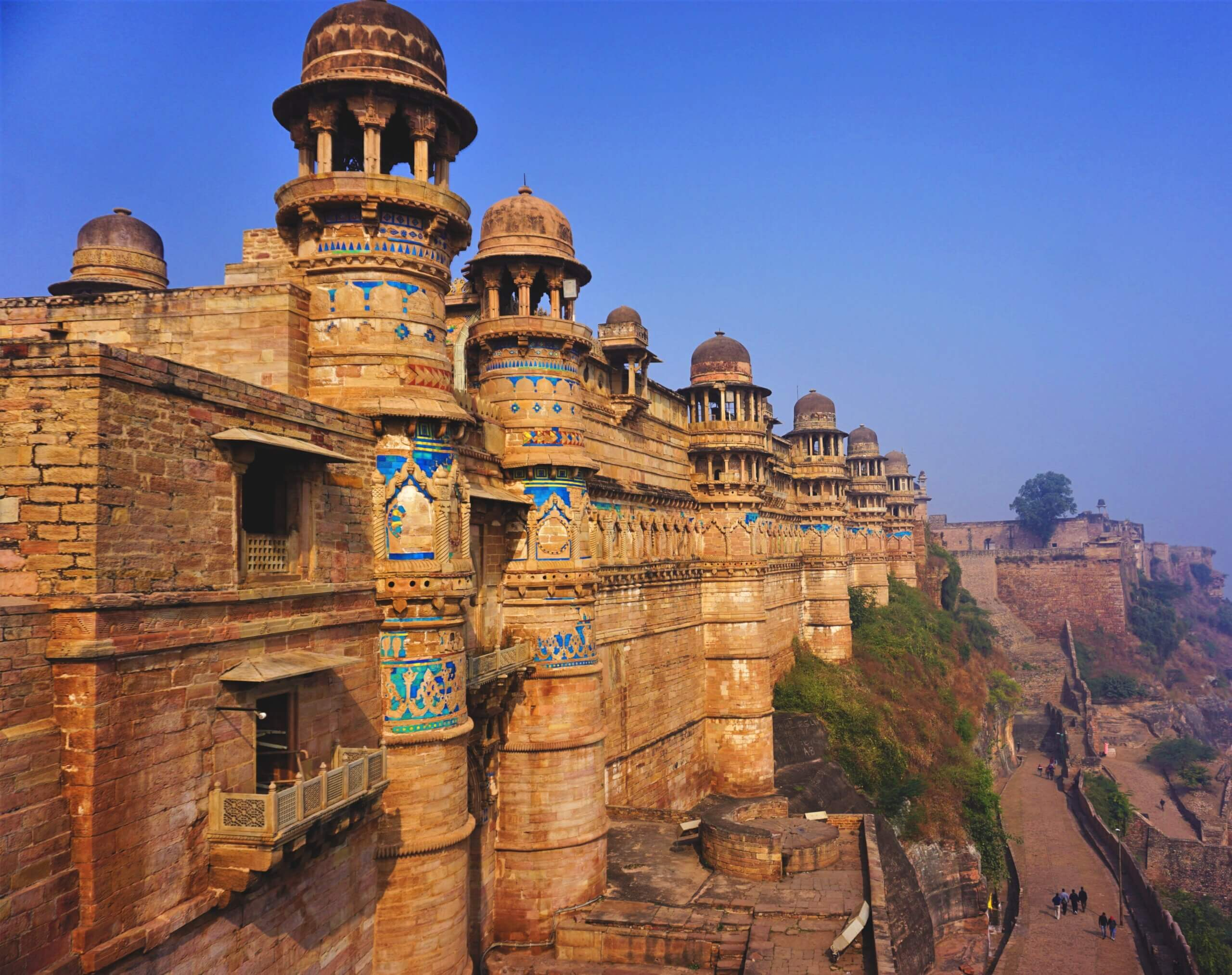 Gwalior Fort built by Raja Maan Singh Tomar Madhya Pradesh India