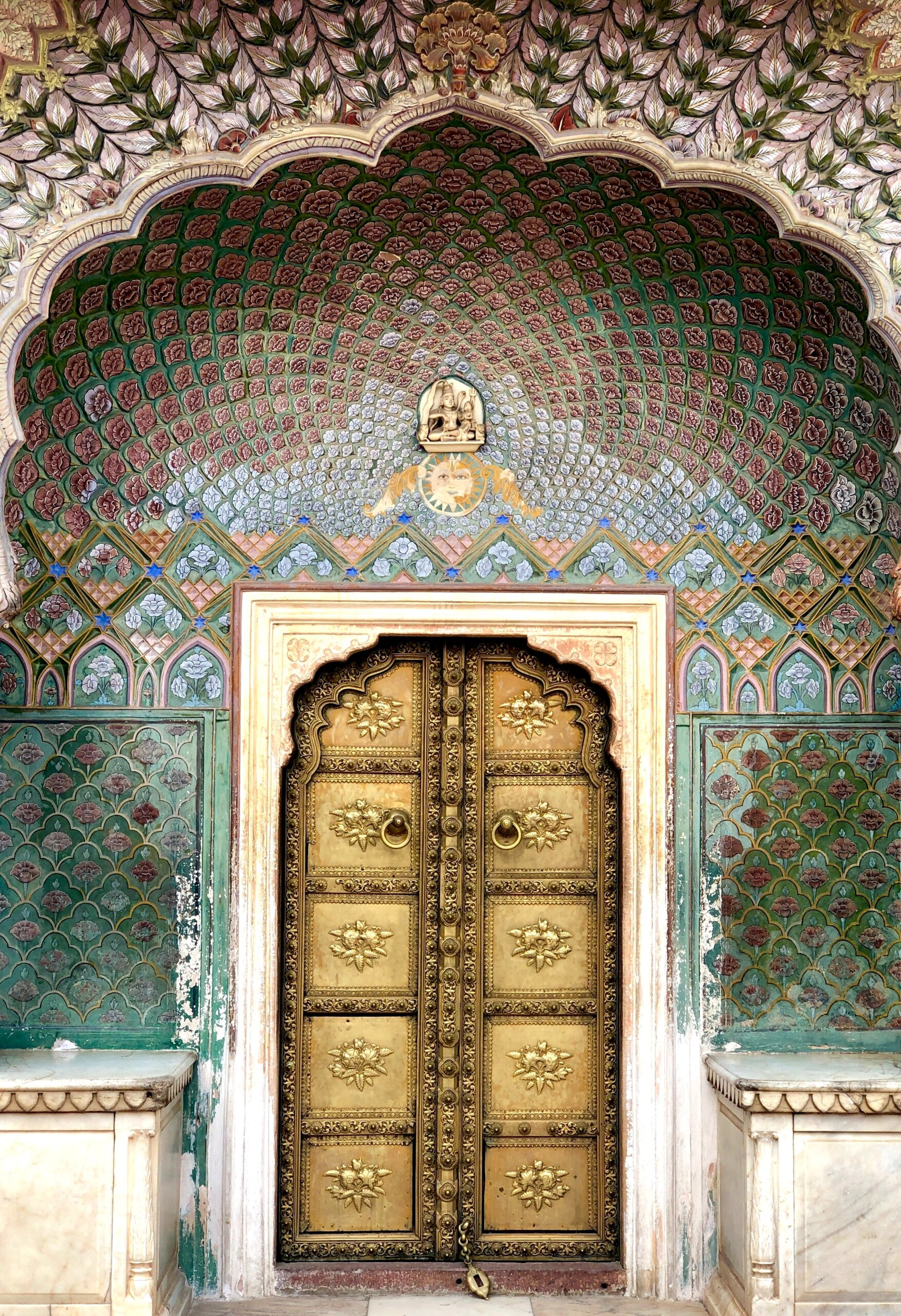 Jaipur Rajasthan India beautiful ornate door travel sights historic city