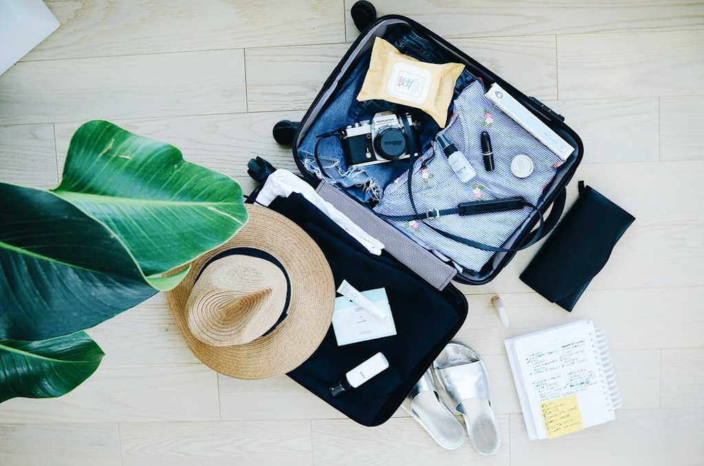 japanese packing trends tips tricks suitcase vacation trip hat jeans passport country jet jetset
