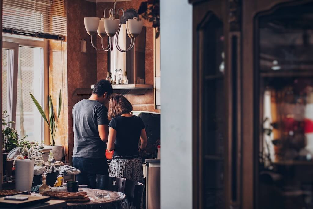 At-Home Activities in India couple cooking kitchen love food